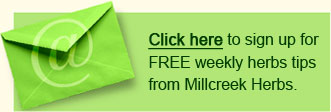 Millcreek Herbs Newsletter Sign Up